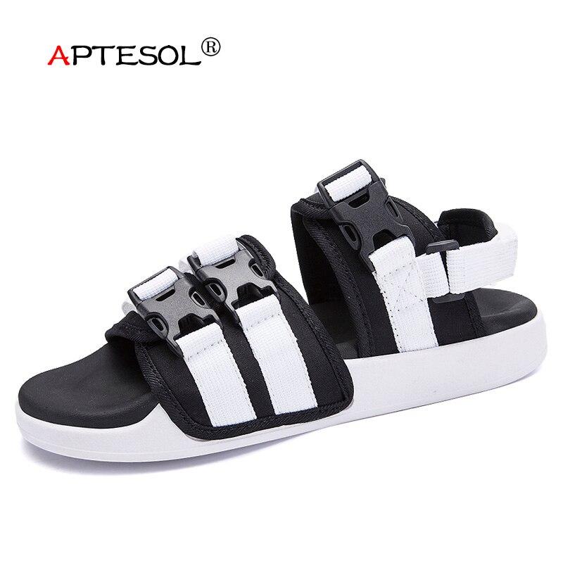 APTESOL החוף מקרית של גברים נעליים חיצוני גברים פנאי אופנה סנדלי sandalias נעלי גומי מונע החלקה sapato masculino hombre