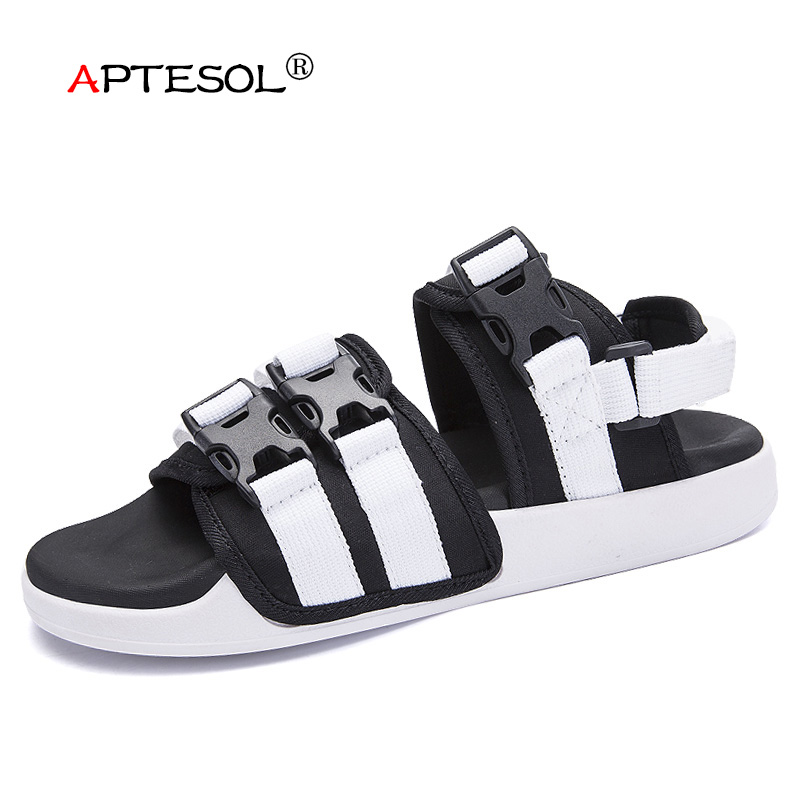 APTESOL Men's Casual Beach Sandals Fashion Leisure Outdoor Men Shoes Non-Slip Rubber Sneakers sapato masculino sandalias hombre