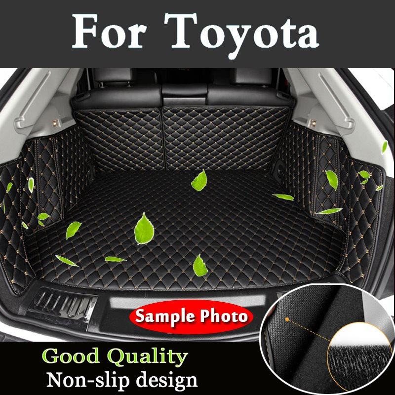 Full Anti Dirty Curettage Car Travel Brand Trunk Mats Waterproof Cargo Liner Boot Carpets For Toyota Landcruiser Zelas Sequoia