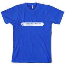 Achievement Unlocked: Got Married - Unisex / Mens T-Shirt Gamer 10 Colours Print T Shirt Short Sleeve Hot Tops Tshirt