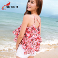 Floral Flower Print Camis Women Vest New 2016 Summer Female Brief Loose Beach Tops Backless Cross Strap Bohemia Halter Top