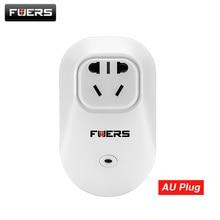 Fuers eua/au/ue/reino unido sem fio inteligente tomada interruptor app controle soquetes de alarme de segurança 433 mhz para g90b g90b mais sistema de alarme