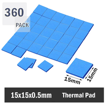 360 pieces 15x15x0.5mm Thermal Pad Heatsink Cooling GPU CPU SMD  Conductive Silicone Pad