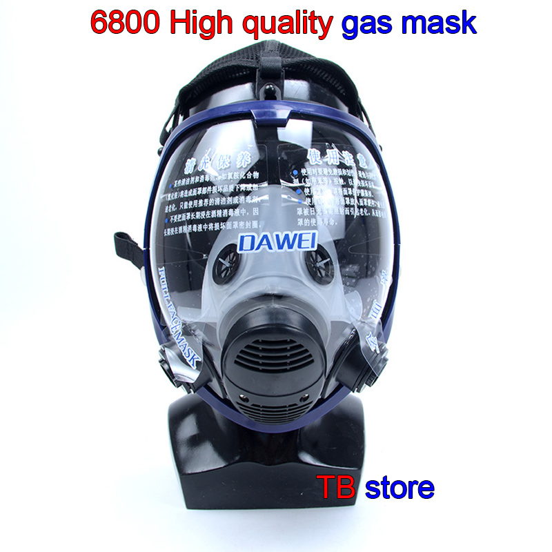 6800 respirator gas mask high quality spherical High definition full face gas mask Universal 3M / SJL filter protective mask