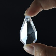 5Pc Clear Crystal Chandelier Prism Glass Suncatcher Faceted DIY Drop Pendant 38mm Hanging Ornament