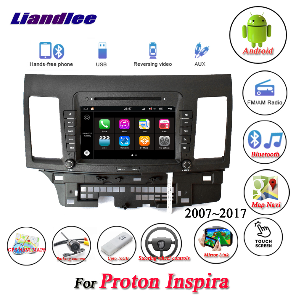 Liandlee For Proton Inspira 20072017 Stereo Car Radio Video Camera Automobile Interior Lights Fader Wifi Bt Cd Dvd Player Gps Map Navi Navigation Android System In Multimedia