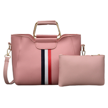 купить 2 Pcs/set Women Handbag 2019 Banded Messenger Bags For Ladies Fashion Shoulder Bag Lady PU Leather Casual Female Shopper Tote по цене 973.06 рублей