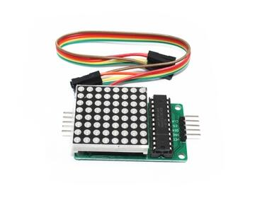1pcs MAX7219 Dot Matrix Module Display DIY kit SCM Control for Arduino Connector