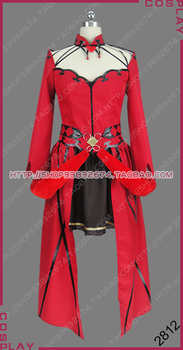 Fate/Grand Order Rin Tohsaka Formal Craft Red Dress Outfit Cosplay Costume S002