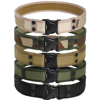 U.S. Army Style Combat Belt Quick Release Men Waistband Outdoor Hunting Canvas Belts