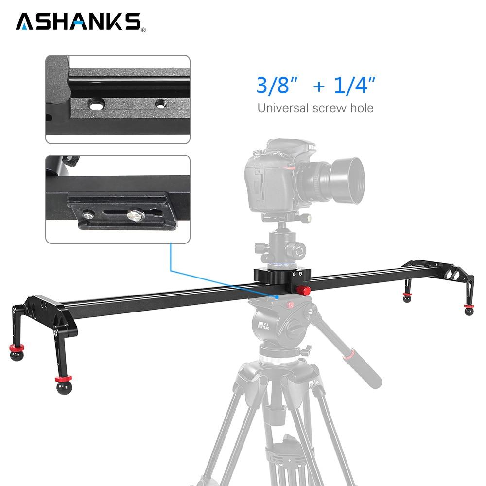 ASHANKS 100 cm/39.37 ''Curseur de Caméra En Alliage D'aluminium D'amortissement Curseur Piste Stabilisateur Vidéo Rail Curseur pour DSLR ou Caméscope