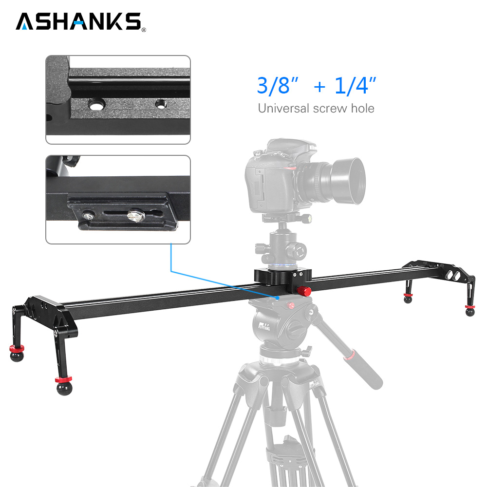 ASHANKS 100cm/39.37'' Camera Slider Aluminum Alloy Damping Slider Track Video Stabilizer Rail Track Slider for DSLR or Camcorder 60cm mini camera video slr stabilizer 3 axis silent damping slide portable compact track slider rail system
