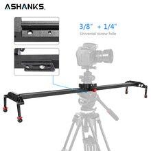 Ashanks 100 cm/39.37 camera slider câmera slider de amortecimento da liga alumínio slider pista vídeo estabilizador trilho slider para dslr ou filmadora