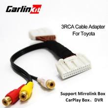Автомобильный 3RCA кабель адаптер для COROLLA REIZ CAMRY CROWN RAV4 PRADO DVD Навигация головного устройства 28Pin синий AV порт