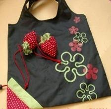 new arrival Foldable Shopping cloth Bag Strawberry Eco-friendly Reusable fruit bag Drop Shipping Support/Reusable fruit bag