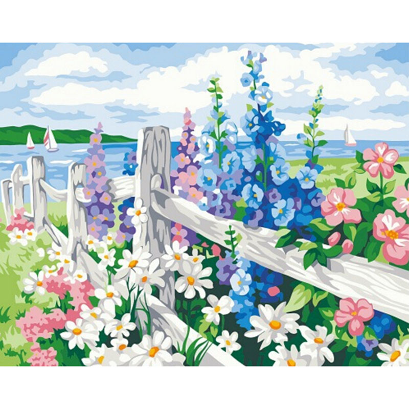 Frameless Canvas Art Oil Painting Flower Painting Design: Frameless Pictures Painting By Numbers Digital Oil