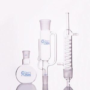 Image 1 - Estrazione di apparecchi, Soxhlet con coled a condensatore e vetro smerigliato articolazioni, boccetta capacità 100 ml/150 ml/250 ml/500 ml/1000 ml/2000 ml