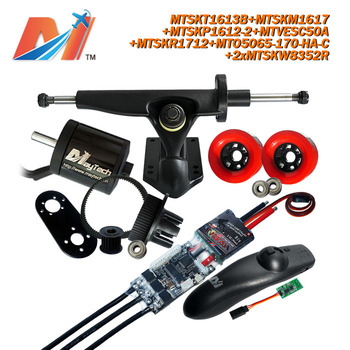 Maytech  for hoverboard parts waterproof remote control and 5065 170kv motor and v esc and skate wheels pulley
