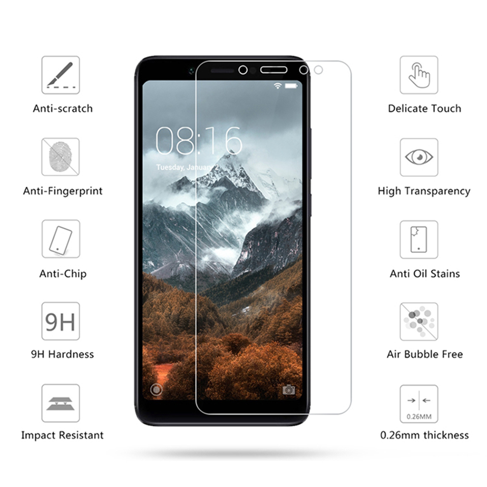 screen protector tempered glass for xiaomi redmi 6A 6 pro 4A 4x 3 3s note 7 5 6 pro(1)