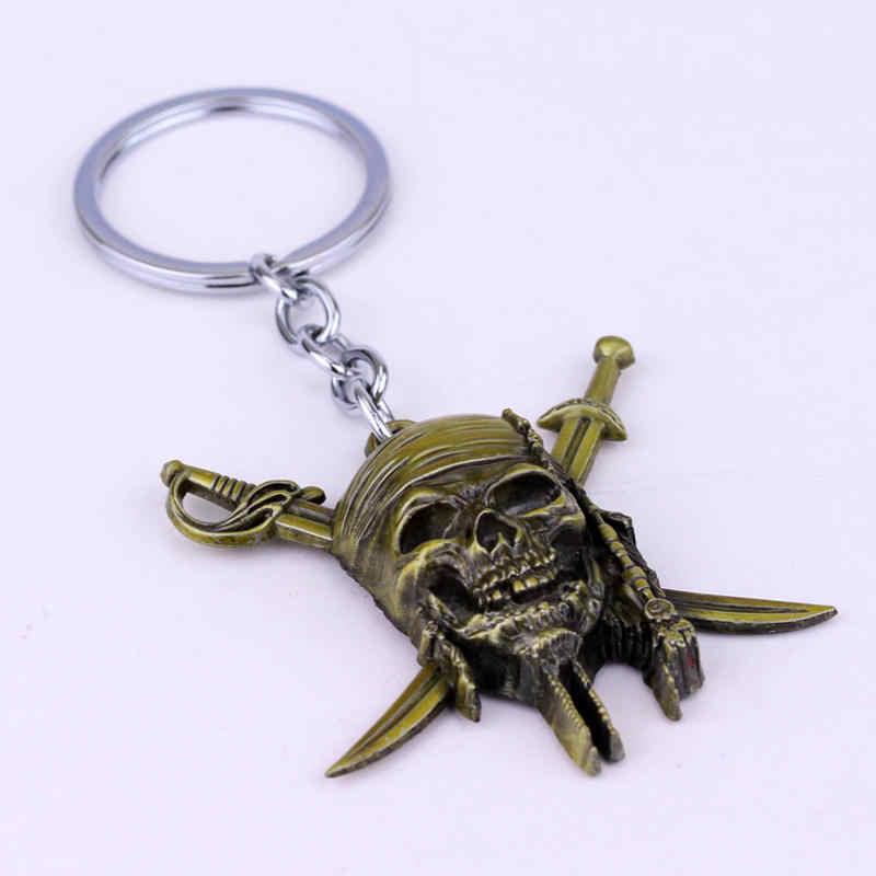 Karayip korsanları Anahtarlık Kaptan Jack Sparrow Maskesi Kafatası Crossbones Anahtarlık Erkekler Hediyeler Aksesuarları-50