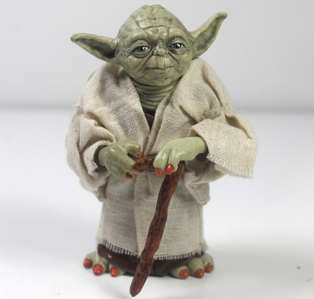 Action Figure Star Wars 12cm Star Wars Jedi Knight Master Yoda Action Figure Collection toys for christmas gift Free shipping