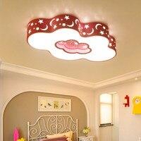 Современные облако СВЕТОДИОДНЫЙ Потолок голубой розовый потолочный светильник мультфильм детская комната глаз защиты для комнаты мальчик