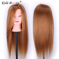 80 Real Hair Training Salon Mannequin Doll Head Hairdressing Practice Cosmetology Hair Styling Mannequins Head On