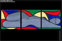 Nude Kunst ölgemälde handgemalte 3 stücke moderne abstrakte wandkunst für home decorartion benutzerdefinierte und großhandel wird begrüßt