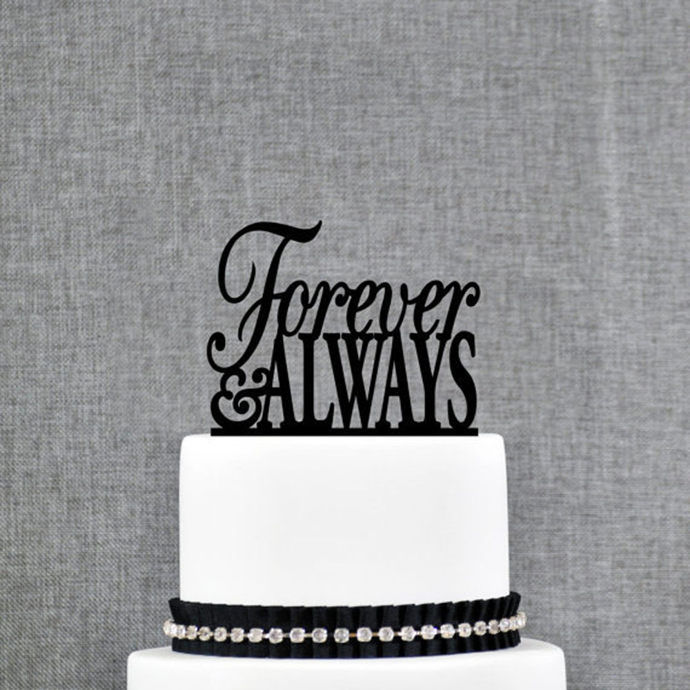 Wedding Cake Toppers Quotes: Personalized Wedding Cake,custom Quote Always And Forever