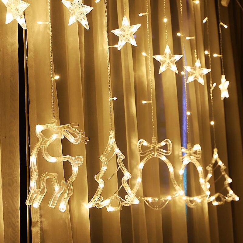 Junjue Brand 1pc Led Star String Lights Warm White Fairy