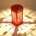 3-Mode Регулируемый Энергосбережение Сенсорное Управление Ретро Лондон Телефонная Будка Night Light USB Двойного Назначения LED Прикроватные Тумбочки, Настольные Лампы