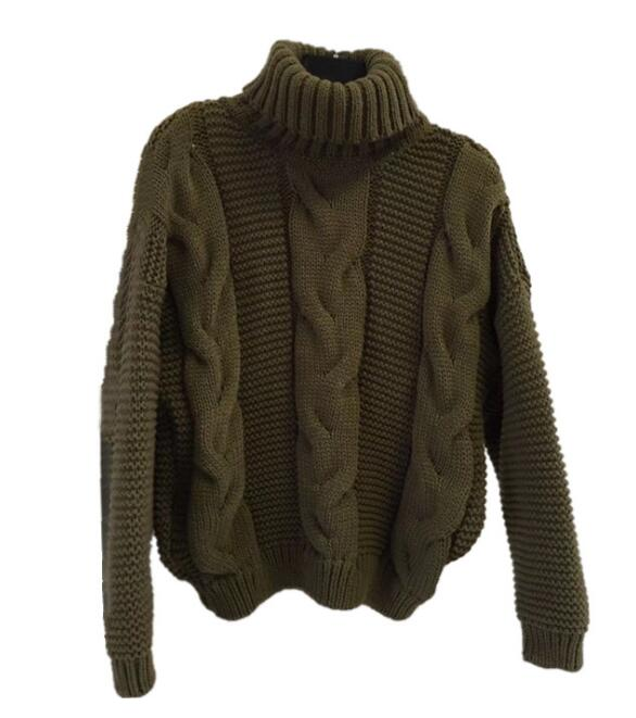 Autumn Winter Short Sweater Women Knitted Turtleneck Pullovers Casual Soft Jumper Fashion Long Sleeve Pull Femme 10