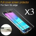 Tpu protector de pantalla completa para samsung galaxy s6 edge g9250 completo Película de pantalla para S6 Edge G925F cubierta protector de la pantalla 3 unid + 1 Caso completo