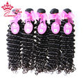 "Queen Hair Products 100% Brazilian Curly Virgin Hair Extension Brazilian Deep Wave Hair Mixed Length 12""-28"" 5 pcs lot Free DHL"
