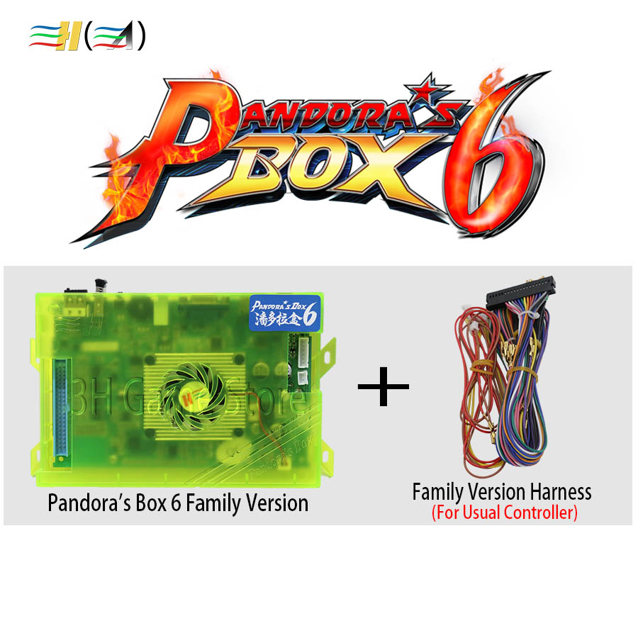 D'origine Pandora Boîte 6 1300 dans 1 Famille Boîte de Console version Carte Mère Pour Pandora stick arcade game Contrôleur HDMI VGA usb