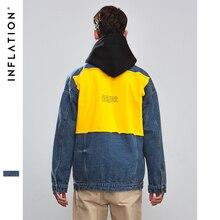 bc5f47f5165a2 La inflación Patchwork chaquetas de Otoño de 2018 primavera Casual  Streetwear ropa Hip hop moda chaqueta para hombres