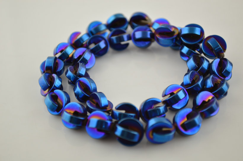 5PC 20mm Faceted Glass Crystal Round Loose Spacer Beads Jewelry Bracelet Making