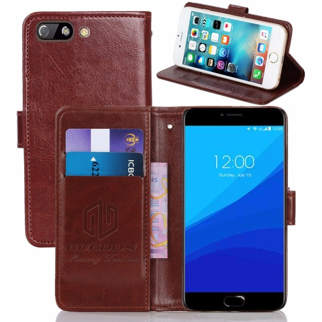 "GUCOON Vintage Wallet Case for Umi Z Pro Umidigi Z Pro 5.5"" PU Leather Retro Flip Cover Magnetic Fashion Cases Kickstand Strap"