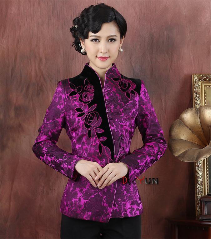 2 Color For Your Choice Traditional Chinese Clothing Silk Satin Jacket Women's Outerwear Tops Tang Suit M-3XL