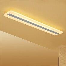 Rectángulo Moderno Minimalista led techo luces de pasillo dormitorio luminarias AC85 265V de techo lámpara lámparas Lamparas De Techo