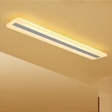 מלבן מינימליסטי מודרני led תקרת אורות חדר שינה מסדרון luminarias AC85 265V תקרת מנורת גופי Lamparas דה Techo