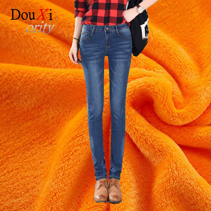Douxiority Women Winter Jeans Plus Alpaca Cashmere Ultra-soft Warm Wool Jeans Thicken Skinny Woman pencil Pants Denim душевой поддон cezares tray a ah 120 100 15 w