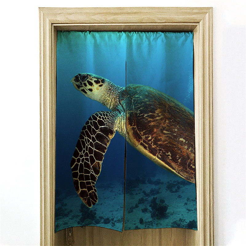 An Style Curtain Pretty Sea Turtle Kitchen Restaurant