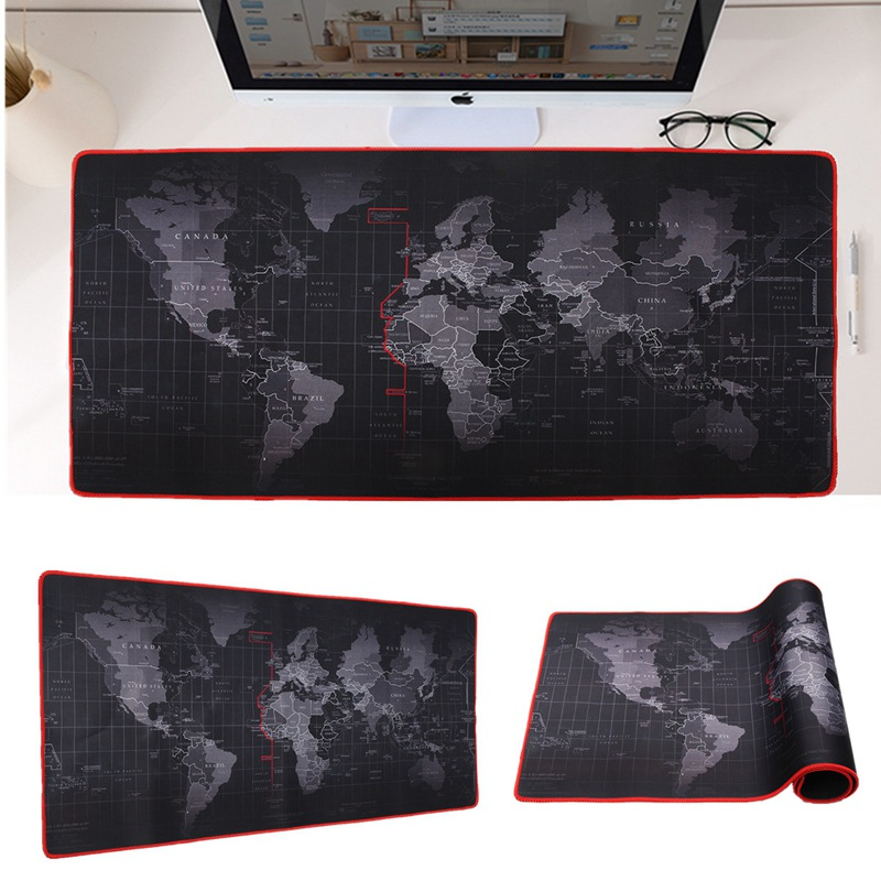 600x300/700x300/800x300/900x400mm World Map Locking Edge Mouse Pad Gamer Large Size Computer Keyboard Mat Table Gaming Mousepad дипкул гаммакс 300