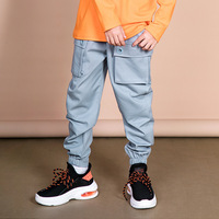 Children's Trousers 2019 Summer Autumn New Solid Color Children's Wear Boys Casual Pocket Teenage Boys Trousers Cargo Pant 10 12