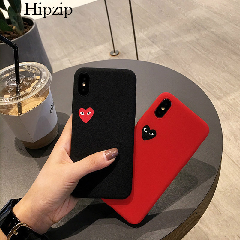 Fitted Cases Fashion Silicone Case For Iphone Xs Max Xr X Ten 10 8 7 6s 6 Plus 5 5s Se Soft Tpu Protector Case Love Heart Eyes Back Cover Pure Whiteness