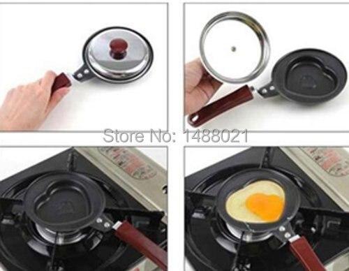 1 Pcs Frying Pan Stainless Steel Skillet Love Heart Shape Mini Egg Fried Pans Healthy Nonstick Fry Pan