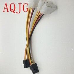 Adaptador de vídeo, adaptador de alimentação 2 x molex para pci-e 4 pinos 6 pinos 6 pinos cabo conversor de placa de vídeo 1 peça de 1 peça por atacado