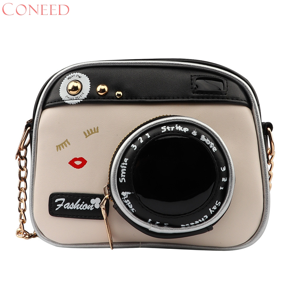 CONEED 2017 girl vintage fashion lady camera shoulder bag women handbag chain messenger female crossbody bag D21W30 2017 120cm diy metal purse chain strap handle bag accessories shoulder crossbody bag handbag replacement fashion long chains new