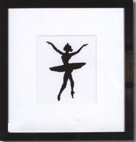 Балерина черно-белая вышивка крестом